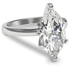 marquise engagement ring with platinum setting