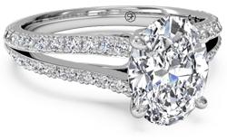 split shanks oval e1425443866983 - Platinum engagement rings