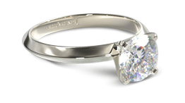 Knife edge solitaire engagement ring