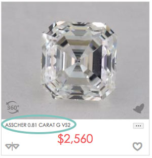 Asscher 0.8 - Asscher cut engagement rings