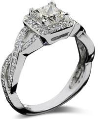 Diamond braid - Pavé engagement rings