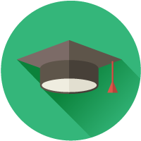 Mortarboard green - About