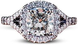 Pave split halo - Pavé engagement rings