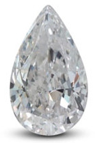 Pear diamond with excellent shape