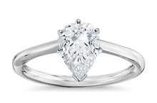 Pear 200 - Solitaire engagement rings