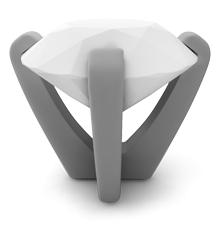 Diamond engagement ring prong setting