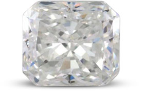 Radiant diamond with E color