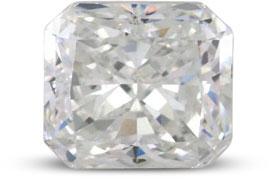 Radiant diamond with E color