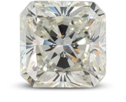 Radiant diamond with K color