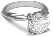 4 Prong Palladium Solitaire Engagement Ring