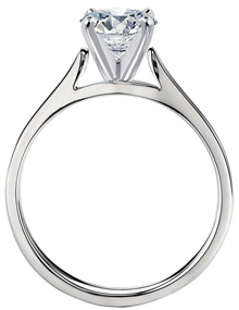 Side view 200 - Solitaire engagement rings