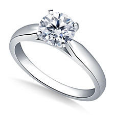 Solitiare example e1428627506479 - 8 ways To Make Your Engagement Ring's Diamond Look Bigger