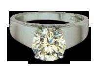 white color diamond ring setting