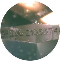 GIA laser inscription