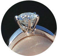 prongs - Solitaire engagement rings