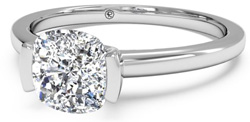 ritani half bezel - Palladium engagement rings