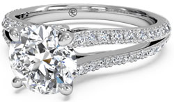 souble french set 1 - Pavé engagement rings