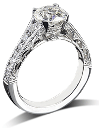 Tacori channel set engagement ring