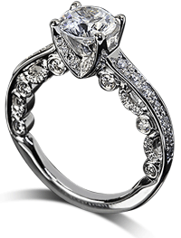 Ornate verragio channel set engagement ring