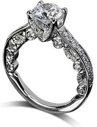 Ornate verragio channel set engagement ring