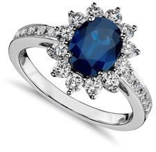 Oval sapphire princess kate engagement ring