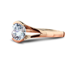 Lena 14K Rose Gold - Solitaire engagement rings