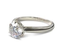 Modern Tulip Diamond Engagement Ring12 - Best engagement Rings for Active Women