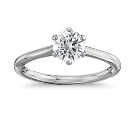 Petite Nouveau Six Prong Solitaire Engagement Ring 14k White Gold1 - Best engagement Rings for Active Women