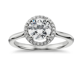 Plain Shank Floating Halo Engagement Ring 14k White Gold - 8 ways To Make Your Engagement Ring's Diamond Look Bigger