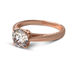 Fluted Basket Diamond Engagement Ring