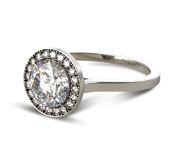 Pave Halo Engagement Ring(3) (Round Center) - Custom Engagement Rings