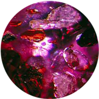 crystal inclusions in ruby