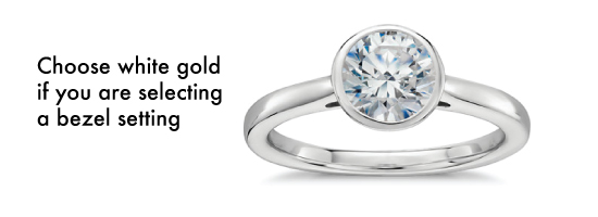 bezel setting white gold - Best engagement Rings for Active Women