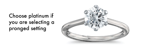 pronged setting platinum - Best engagement Rings for Active Women