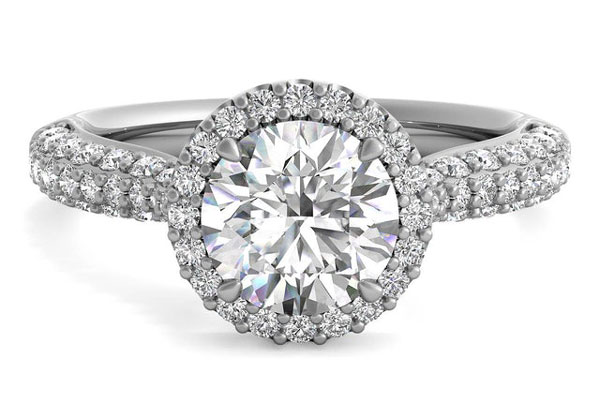 triple pave - Best engagement Rings for Active Women