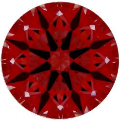 Idealscope arrows image of Brian Gavin signature hearts and arrows diamond