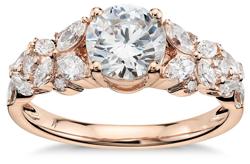 Monique Lhuillier Petal Garland Diamond Engagement Ring in 18k Rose Gold 1 2 ct. tw.   Blue Nile - Blue Nile Review