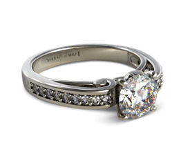 Arched Scroll Diamond Engagement Ring1 - James Allen Review
