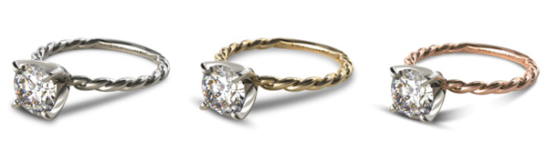 Cable Solitaire Engagement Ring2 - James Allen Review