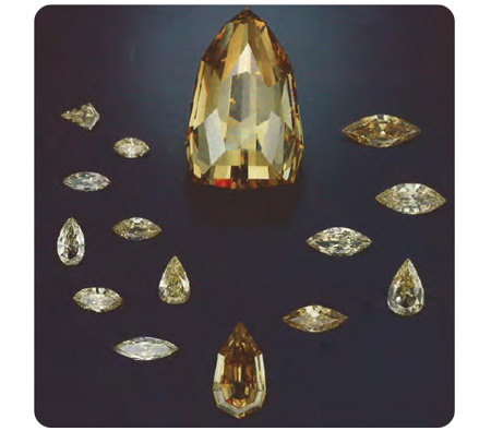 yellow diamond colors from cutting