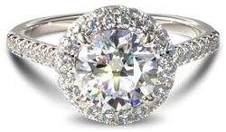 halo diamond engagement ring - Halo engagement rings