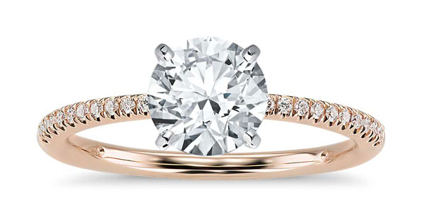 petit pave - 2017 Engagement Ring Trends