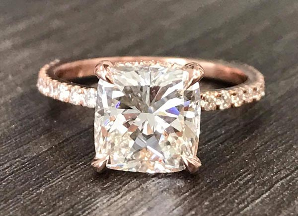6 Ronda Rousey Engagement Ring Front View - Ronda Rousey's Engagement Ring