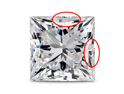 10 diamond Princess cut vs2 - VS2 Diamonds