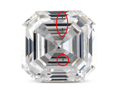6 asscher diamond Square Emerald 1.01 Carat D SI1 0 first  - Square Engagement Rings