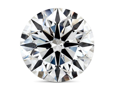 2.51 carat diamond with visible iclusion