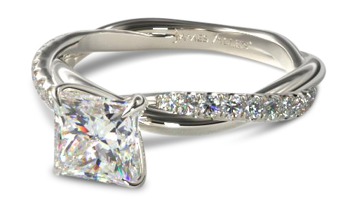 13. twisted princess - 2018 Engagement Ring Trends