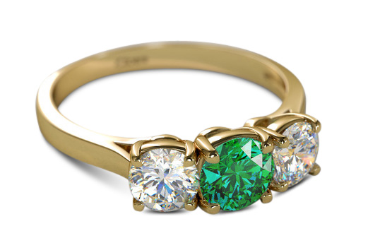 5. emeraldyellowgold - 2018 Engagement Ring Trends