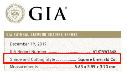 asscher cut certificate - Square Engagement Rings