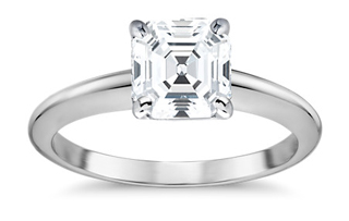 asscher cut square diamond ring - Importing a diamond or engagement ring into Singapore
